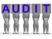 Audit Banners Means Financial Audience Or Stock Photos