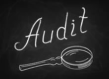 Audit On Blackboard Stock Photos