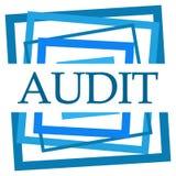 Audit Blue Random Borders Royalty Free Stock Image