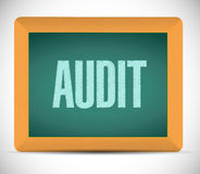 Audit board sign illustration design Stock Image