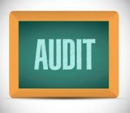 Audit board sign illustration design Stock Image