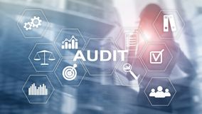 Audit business and finance concept. Ànalysis Annual Financial Statements, Analyze return on investment. Mixed media abstract stock photography
