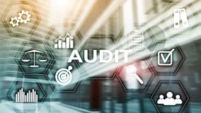 Audit business and finance concept. Analysis Annual Financial Statements, Analyze return on investment. Mixed media abstract royalty free stock photos