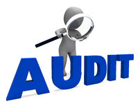 Audit Character Means Validation Auditor Royalty Free Stock Images