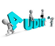Audit Characters Shows Auditors Auditing Or Scrutiny Stock Images