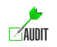 Audit check dart illustration design Royalty Free Stock Photography