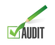 Audit check mark illustration design Royalty Free Stock Photo