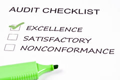 Audit checklist Stock Photos