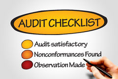 Audit checklist Royalty Free Stock Photography