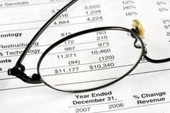 Audit the company balance sheet. And financial statement Royalty Free Stock Image