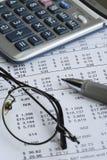 Audit the company balance sheet Royalty Free Stock Image