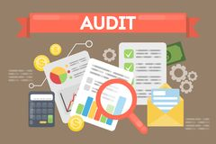 Audit concept illustration. Royalty Free Stock Photo