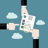 Audit d'affaires Photo libre de droits