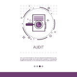 Audit Data Analysis Financial Graph Report Web Banner With Copy Space. Vector Illustration Royalty Free Stock Photo
