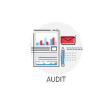 Audit Data Analysis Icon Financial Graph. Vector Illustration Royalty Free Stock Images