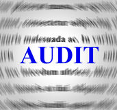 Audit Definition Means Validation Analysis And Inspect Royalty Free Stock Images