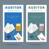 Audit and financial analysis vector business card concept. Royalty Free Stock Photography