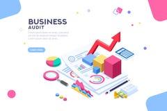 Audit financier pour le conseiller commercial Administration illustration stock