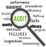 Audit focus. Focusing on audit, quality and efficiency Royalty Free Stock Photography