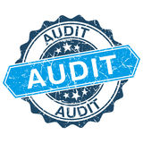 Audit grungy stamp Royalty Free Stock Images