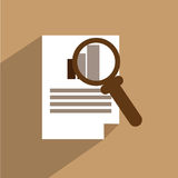 Audit icon. A flat vector icon for audit Royalty Free Stock Image