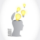 Audit idea mind concept illustration design Stock Images