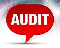 Audit Red Bubble Background royalty free illustration