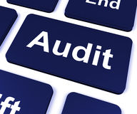 Audit Key Shows Auditor Validation Or Inspection Royalty Free Stock Image