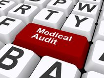 Audit médical illustration stock