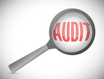 Audit magnify text illustration design Stock Photography