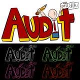 Audit Man Text. An image of a audit text message man Stock Photos