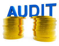 Audit Money Represents Balancing The Books And Accountant Stock Images