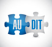 Audit puzzle pieces illustration design Royalty Free Stock Images