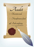 Audit report in antique style Stock Photography