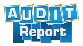 Audit Report Blue Squares Stripes Stock Images