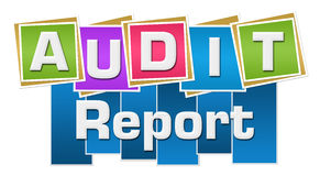 Audit Report Colorful Squares Stripes Stock Photo