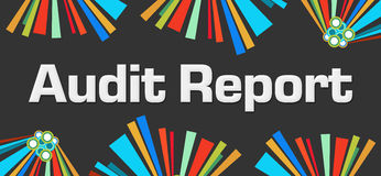 Audit Report Dark Colorful Elements Royalty Free Stock Image