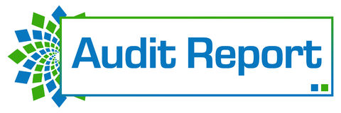 Audit Report Green Blue Circular Bar Stock Image