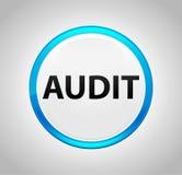 Audit Round Blue Push Button royalty free illustration