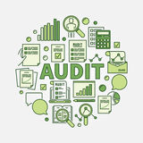 Audit round illustration Stock Photo