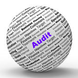 Audit Sphere Definition Means Financial Inspection. Audit Sphere Definition Meaning Financial Inspection Verification Or Audit Royalty Free Stock Images