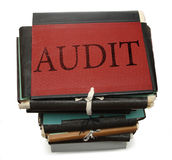Audit stack. Of paper folders Stock Image