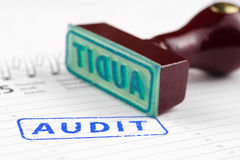 Audit stamp on a scheduler Royalty Free Stock Image