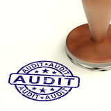 Audit Stamp Shows Financial Accounting Examinations Stock Photo