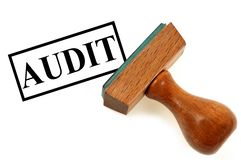 Audit stamp on white background royalty free stock photo
