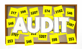 Audit Tax Review Accounting Sticky Notes Stock Image