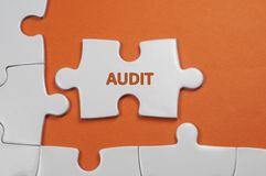 Audit Text - Business Concept Royalty Free Stock Photos