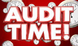 Audit Time Tax Accounting Review Clocks Royalty Free Stock Image