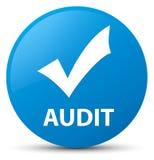 Audit (validate icon) cyan blue round button Stock Photos