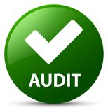 Audit (validate icon) green round button Stock Image
